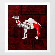 Camel Collage 1 Art Print
