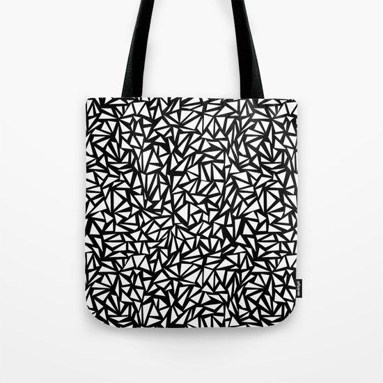 Try Me - memphis modern black and white minimal angular geometric triangle fun 1980s retro  Tote Bag