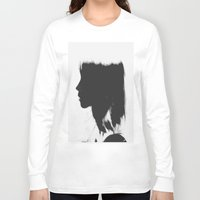 silhouette Long Sleeve T-shirts featuring Silhouette   by Jane Lacey Smith