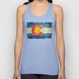 Colorado State flag - Vintage retro style Unisex Tank Top