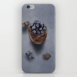 Delicious Blueberry Chocolate Mousse Cake iPhone Skin