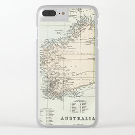 Vintage Map of the West Of Australia Clear iPhone Case