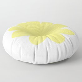 Yellow Flower on Pale Yellow Floor Pillow