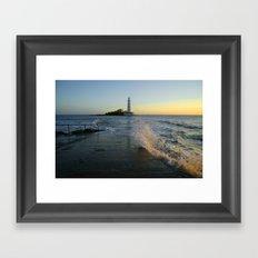 St Marys Lighthouse Framed Art Print