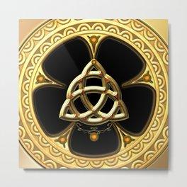 Decorative celtic knot Metal Print