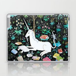 The Unicorn is Reading Laptop & iPad Skin