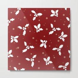 Red christmas pattern Metal Print