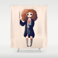 hermione Shower Curtains featuring Leviosa by Nan Lawson