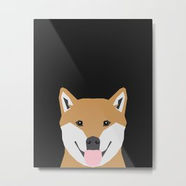 Indiana - Shiba Inu gift design for dog lovers and dog people Metal Print