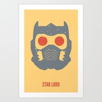 star lord Art Prints featuring Star-Lord by d00d it's jake