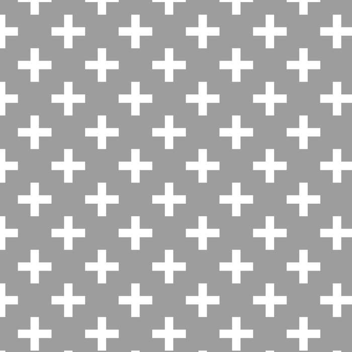 Criss Cross   Plus Sign   Grey and White Leggings