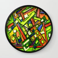 oakland Wall Clocks featuring Uptown Oakland by Octavious Sage