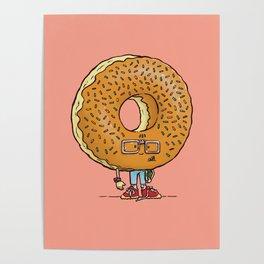 Nerd Donut Poster