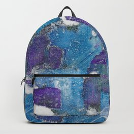 Blue & Purple Abstract Backpack
