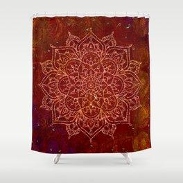 Rust Red Mandala Shower Curtain