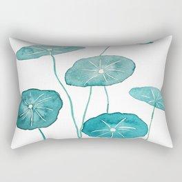 whorled umbrella plant leaf watercolor Rectangular Pillow