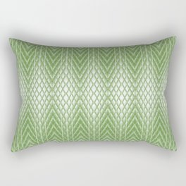 Cool Lime Green Frosted Geometric Design Rectangular Pillow