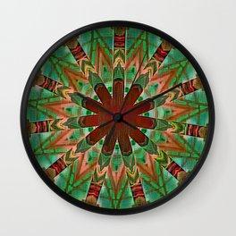Superimposed Nausea Mandala Wall Clock