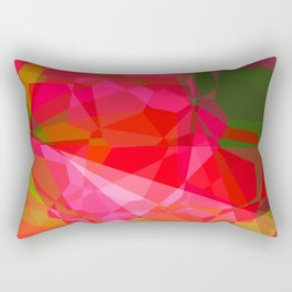 Pink Roses in Anzures 4 Abstract Polygons 3 Rectangular Pillow