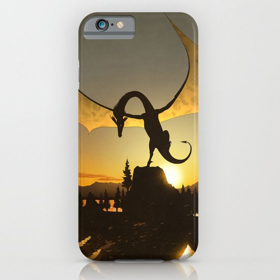 Dragon Sunset iPhone & iPod Case
