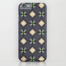 Koko beige and black with white marks pattern iPhone Case