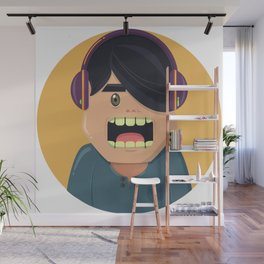 Headphones Kiddo Wall Mural