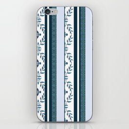 zakiaz navy & white french stripe iPhone Skin