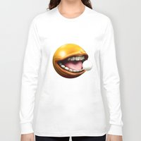 pacman Long Sleeve T-shirts featuring PacMan by Joshua A. Biron