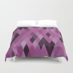 Muted Berry Color Harlequin Pattern Duvet Cover