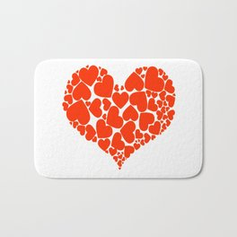 A Heart Full Of Love Red Valentine Hearts Within A Heart Bath Mat