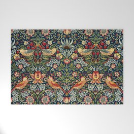 Strawberry Thief by William Morris 1883 Antique Vintage Pattern CC0 Spring Summer Welcome Mat