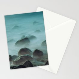 Ocean waves against the rocks Stationery Cards