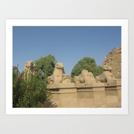 The Avenue of Sphinxes Art Print