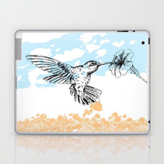 Hummingbird print Laptop & iPad Skin