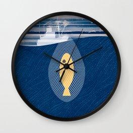 THE FISHERMAN & HIS NETS Wall Clock