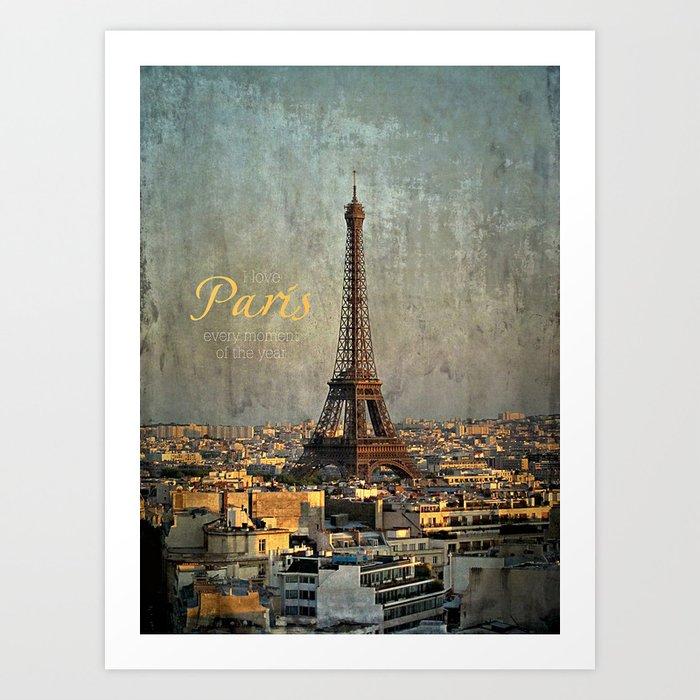I love Paris Art Print