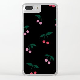Cherry Print Clear iPhone Case