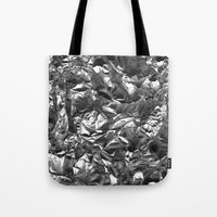heavy metal Tote Bags featuring Heavy Metal Crush by BruceStanfieldArtist.DarkSide