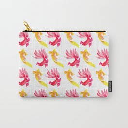 Tropical Fish Pattern (red and yellow palette) Carry-All Pouch