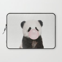 Bubble Gum Panda Bear Laptop Sleeve