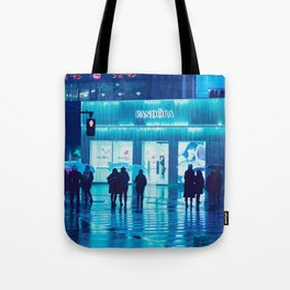Tokyo Nights / Rain / Liam Wong Tote Bag