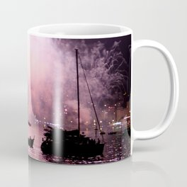 Fireworks on the harbour  Coffee Mug