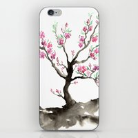 sakura iPhone & iPod Skins featuring Sakura by Brazen Edwards