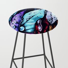 Foliage watercolor painting art Bar Stool