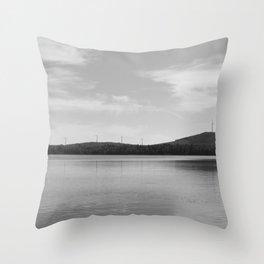 Maine Windmills Throw Pillow