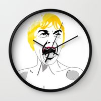 shower Wall Clocks featuring Shower by Alvaro Tapia Hidalgo