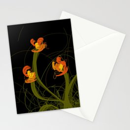 Flowerthread No1 [orange blooms] Stationery Cards