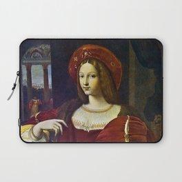 Joanna of Aragon by Raphael Laptop Sleeve