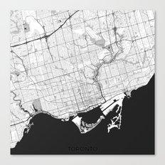 Toronto Map Gray Canvas Print