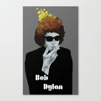 bob dylan Canvas Prints featuring Bob Dylan by Justin McElroy